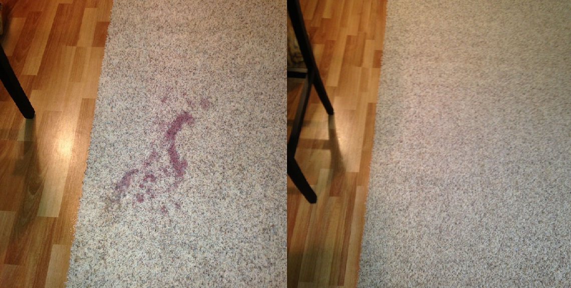 Spot Removal Experts – Even wine stains can come out!